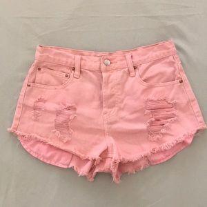 High-Waisted Denim Shorts Size 28